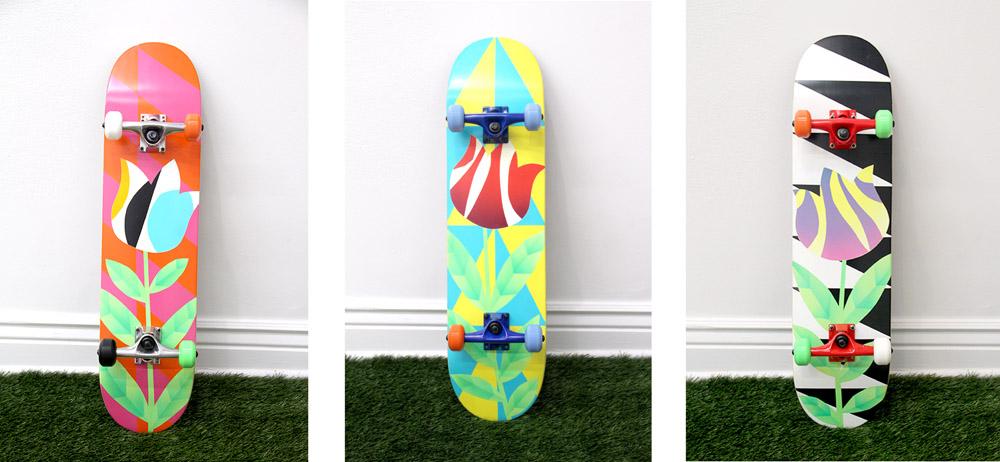 Andrew Falkowski, Hand Painted Custom Skateboards.     Raffle Ticket