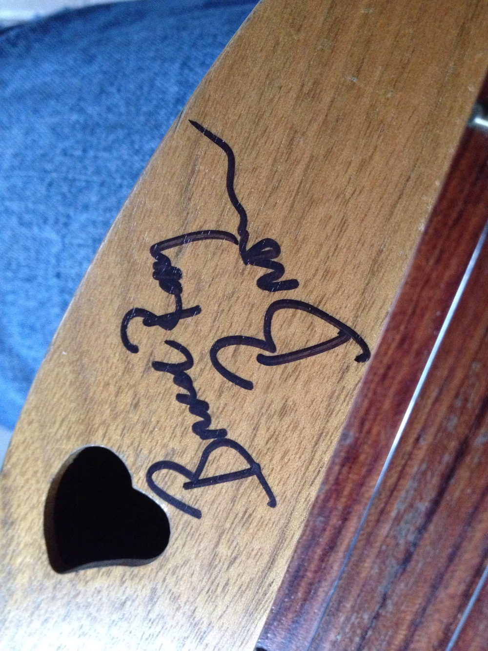 Charlie Daniels Band guitarist Bruce Ray Brown, a 25-year veteran of the band, signed my dulcimer and inquired about lessons!