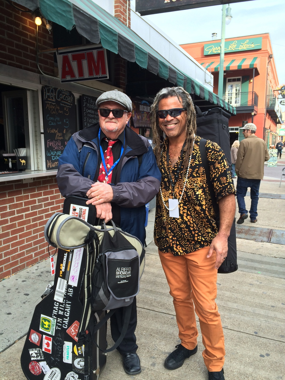 With 2014 IBC Solo/Duo Winner Tim Williams on Beale.