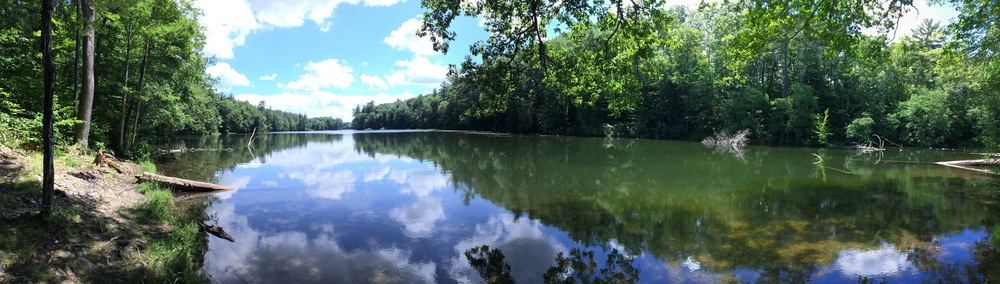 The water is wide at Chenango Valley State Park in New York