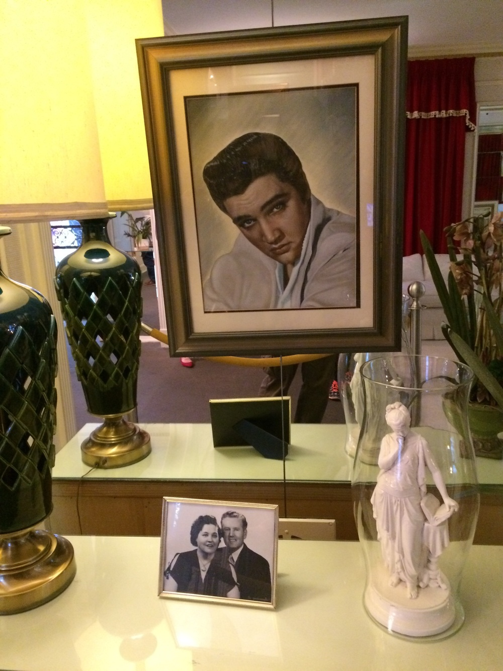 Inside the living room of Graceland.