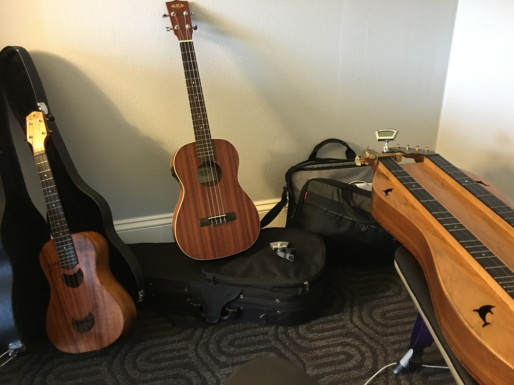 Getting ready for Midwest Uke Fest