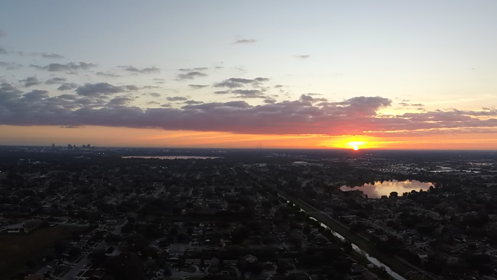 Sunrise over Orlando - 1/5/17 - 3DR Solo Quadcopter and GoPro Hero 3+ Silver