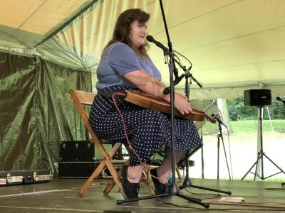 Sarah Morgan onstage Sunday.