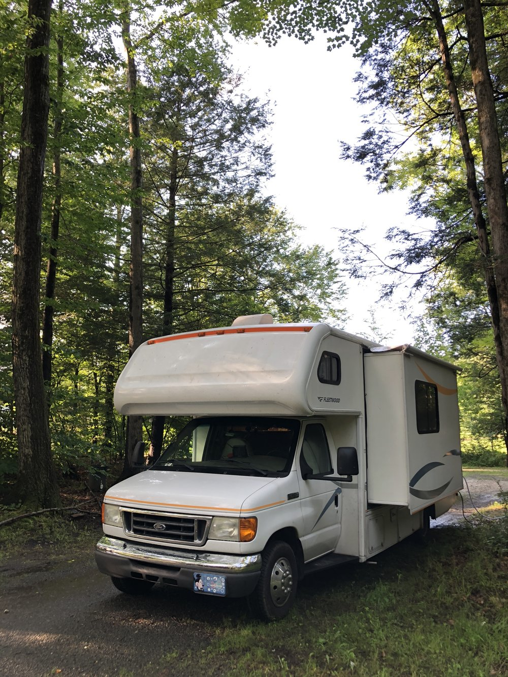 Imua at White Birch Campground in Whately, Massachusetts.