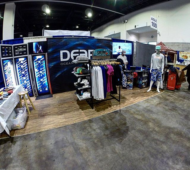 Come see us for great show deals BUY 3 lures get a 4th for FREE! Jump in on our FREE raffle as well with great giveaways. Also representing the full line of @deep_apparel at booth 802-803