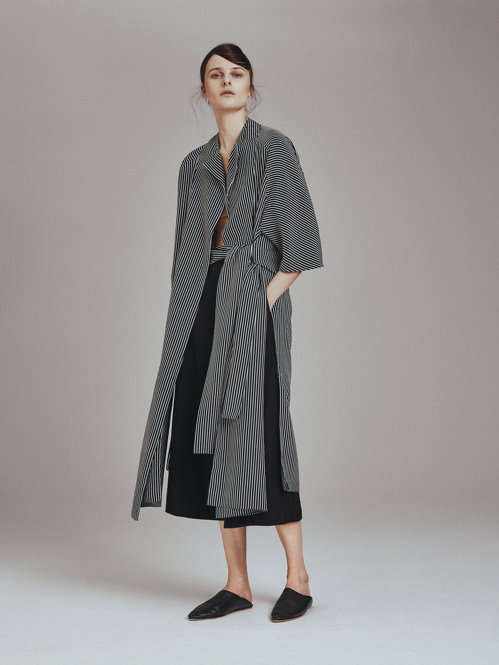GARANCE JACKET   Crepe de Chine  -   ELSA PANTS  Wool Jersey   Stretch Charmeuse Lining      Contact for inquiry
