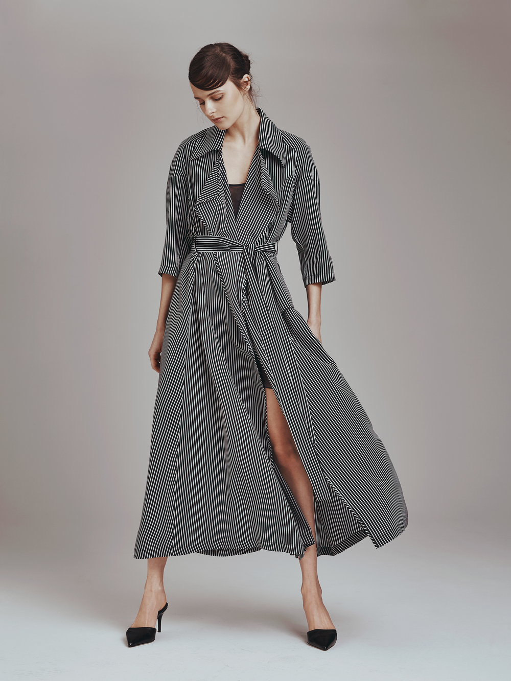 FRANCIS TRENCH  Crepe de Chine  -   SHORT SLIP IN SHEER  Crinkle Chiffon      Contact for inquiry