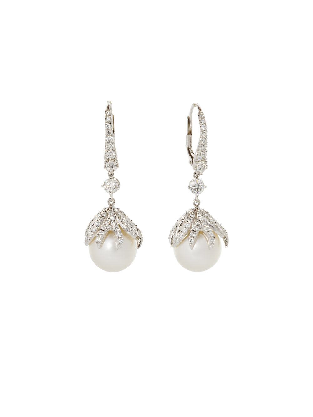 ELVA EARRINGS    18 K GOLD  TAHITIAN PEARLS 2.8 CT OF DIAMONDS      Contact for inquiry