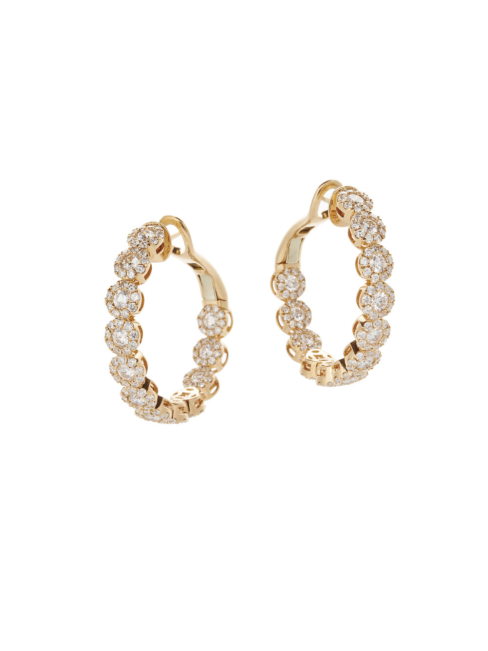 JESSICA HOOPS   18 K GOLD 5.5 CT OF DIAMONDS      Contact for inquiry