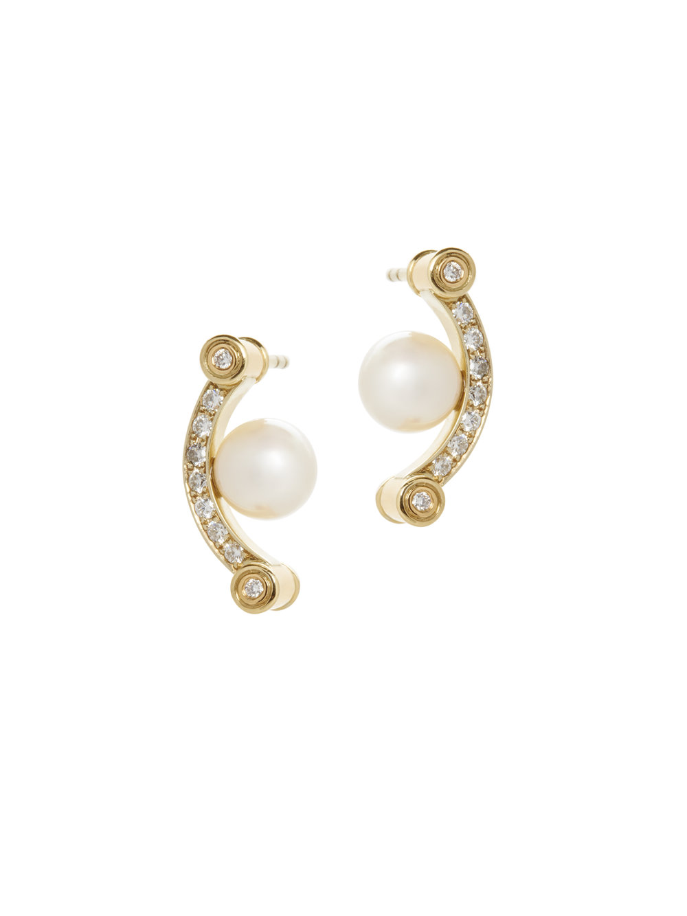 SANDY EARRINGS   18K GOLD SOUTH SEA PEARLS 0.48 CT OF DIAMONDS      Contact for inquiry