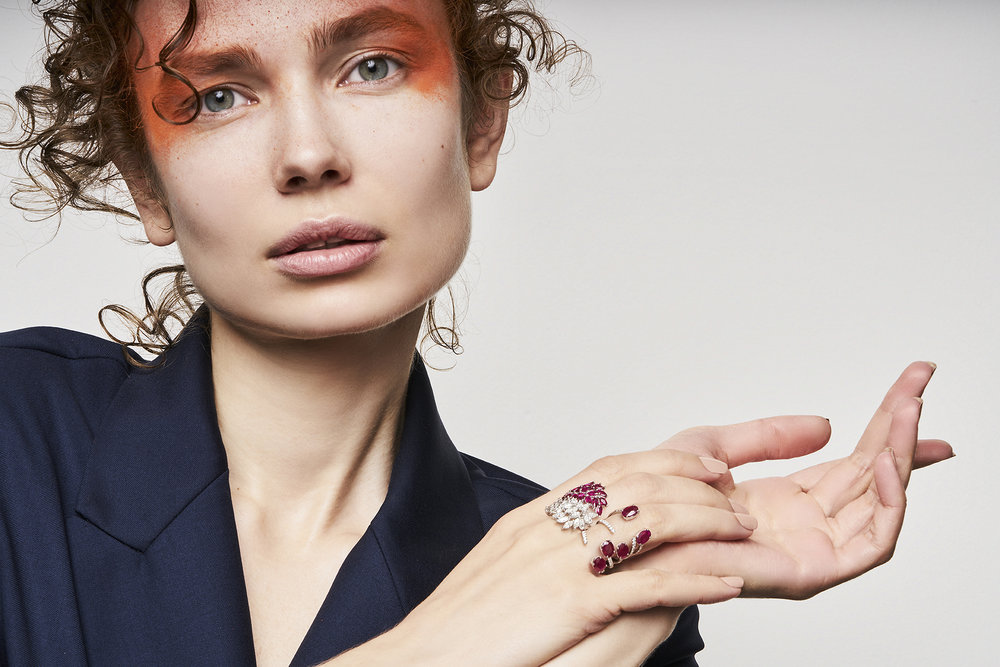 HERA RING   18K Gold  0.41 Ct of Diamonds  5.27 Ct of Rubies      KILEY RING   18K Gold  2.64 Ct of Diamonds  3.55 Ct of Rubies      Contact for inquiry