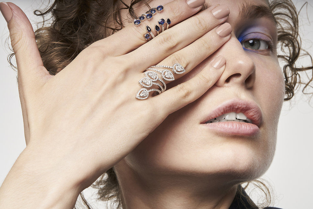 LUCILE RING   18K Gold  0.33 Ct of Diamonds  3.16 Ct of Sapphires      ISABELLE RING    18K Gold  1.78 Ct of Diamonds      Contact for inquiry