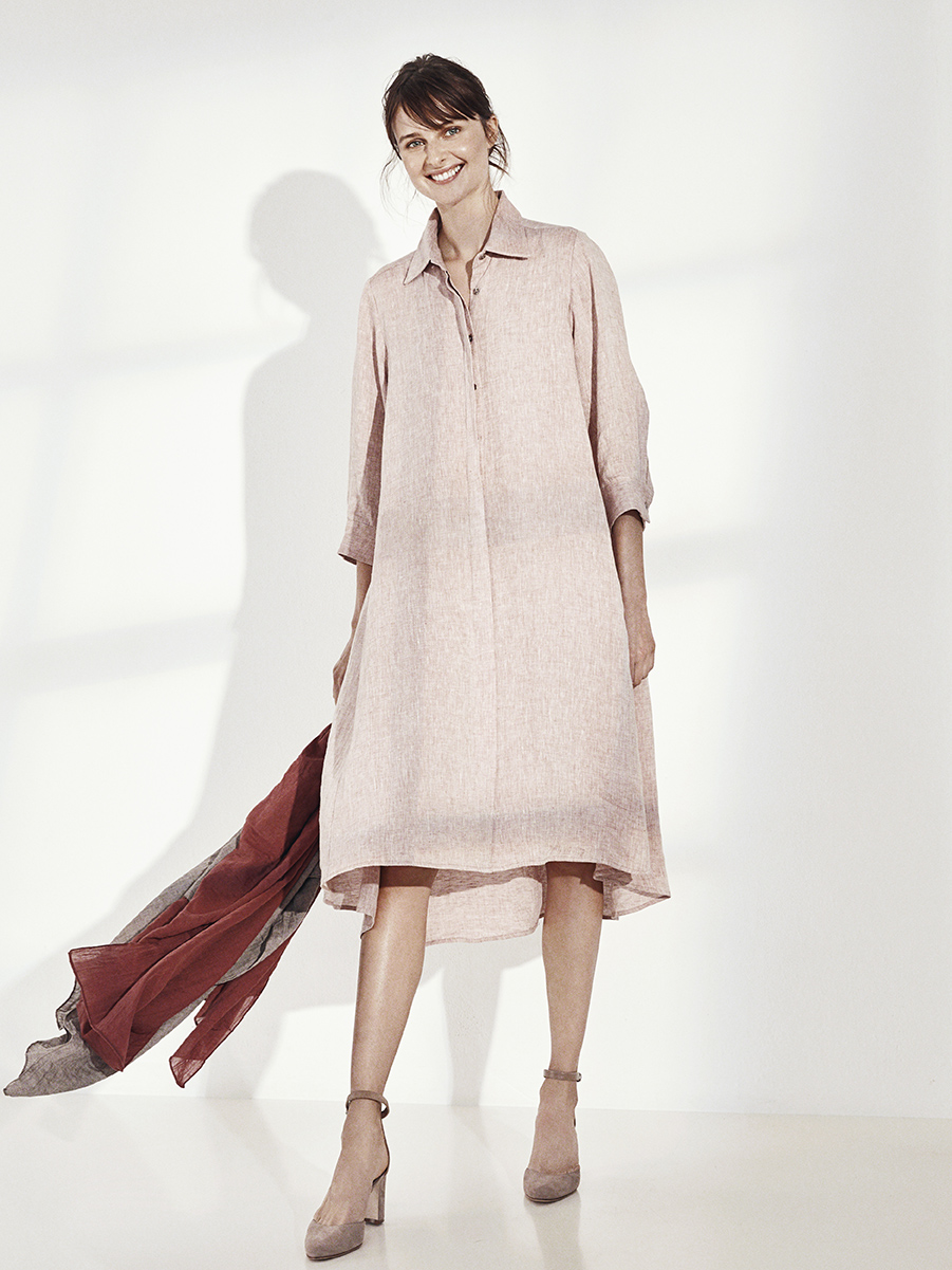 LISA SHORT DRESS   WASHED LINEN     SONORA SCARF   60% COTTON, 40% LINEN     Contact for inquiry