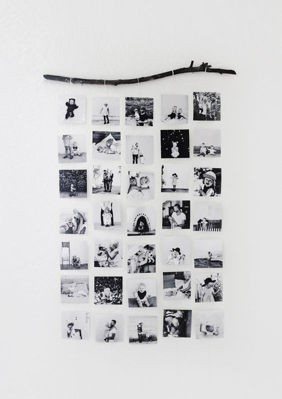 DIY Photo Wall via