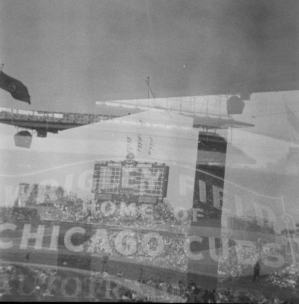 Shot by me on Ilford film. Accidental double exposure!