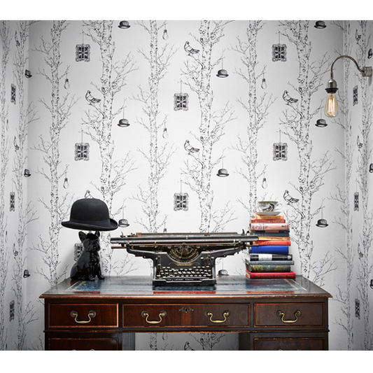 Eccentric black and white wallpaper  by Graham and Brown
