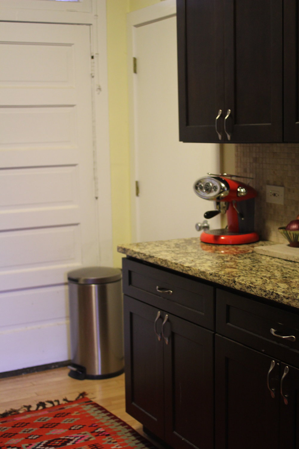 Red Espresso machine for kitchen decor