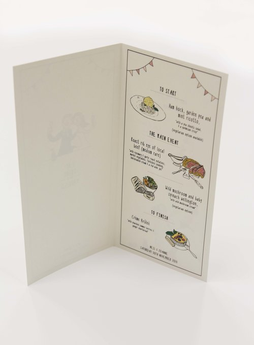 Illustrated Menu Card Sample Rose Cottage Designs – Sample Menu Card