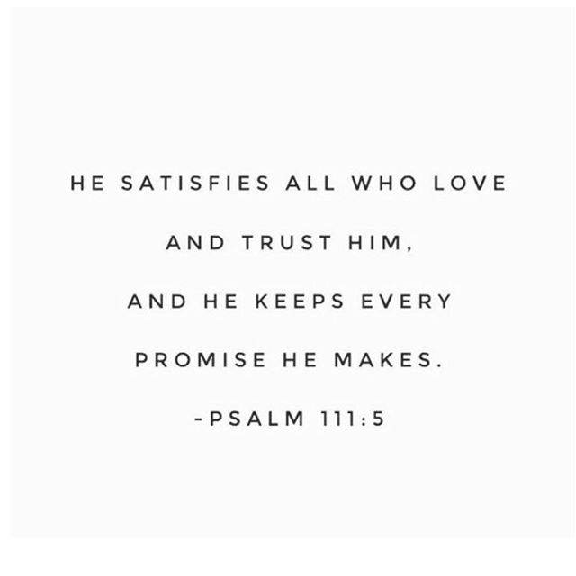 Are you searching for contentment? Jesus satisfies. Put your trust in his promises today. #kstn