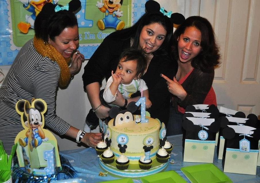 Mickey's 1st Birthday Cake