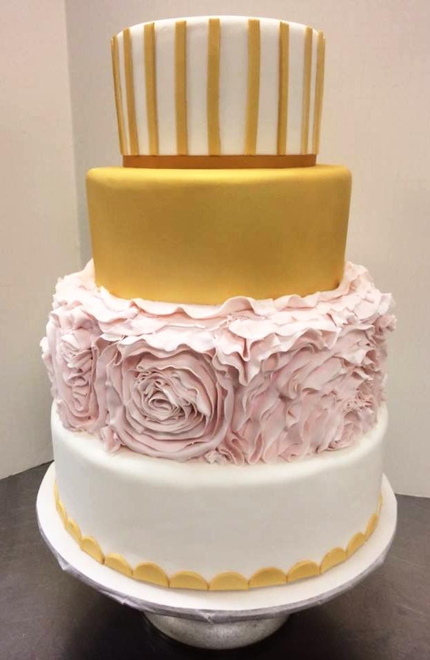 pink and gold flower wedding cake.jpg