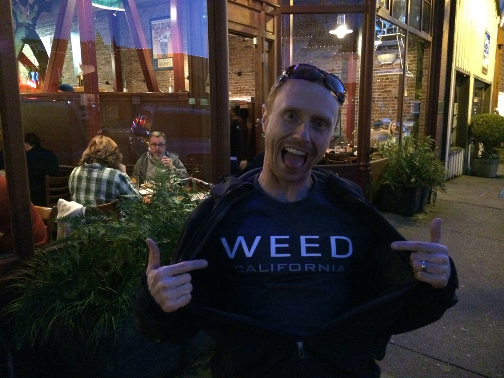 I bought a tee shirt in Weed, California a small town in northern California named after Abner Weed.