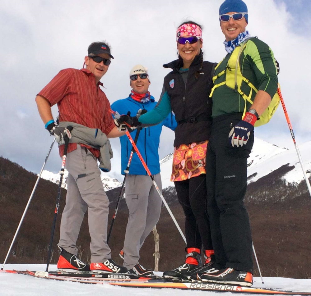 PSIA Nordic team (left to right): Scotty McGee, Ross Matlock, Megan Spurkland, David lawrence