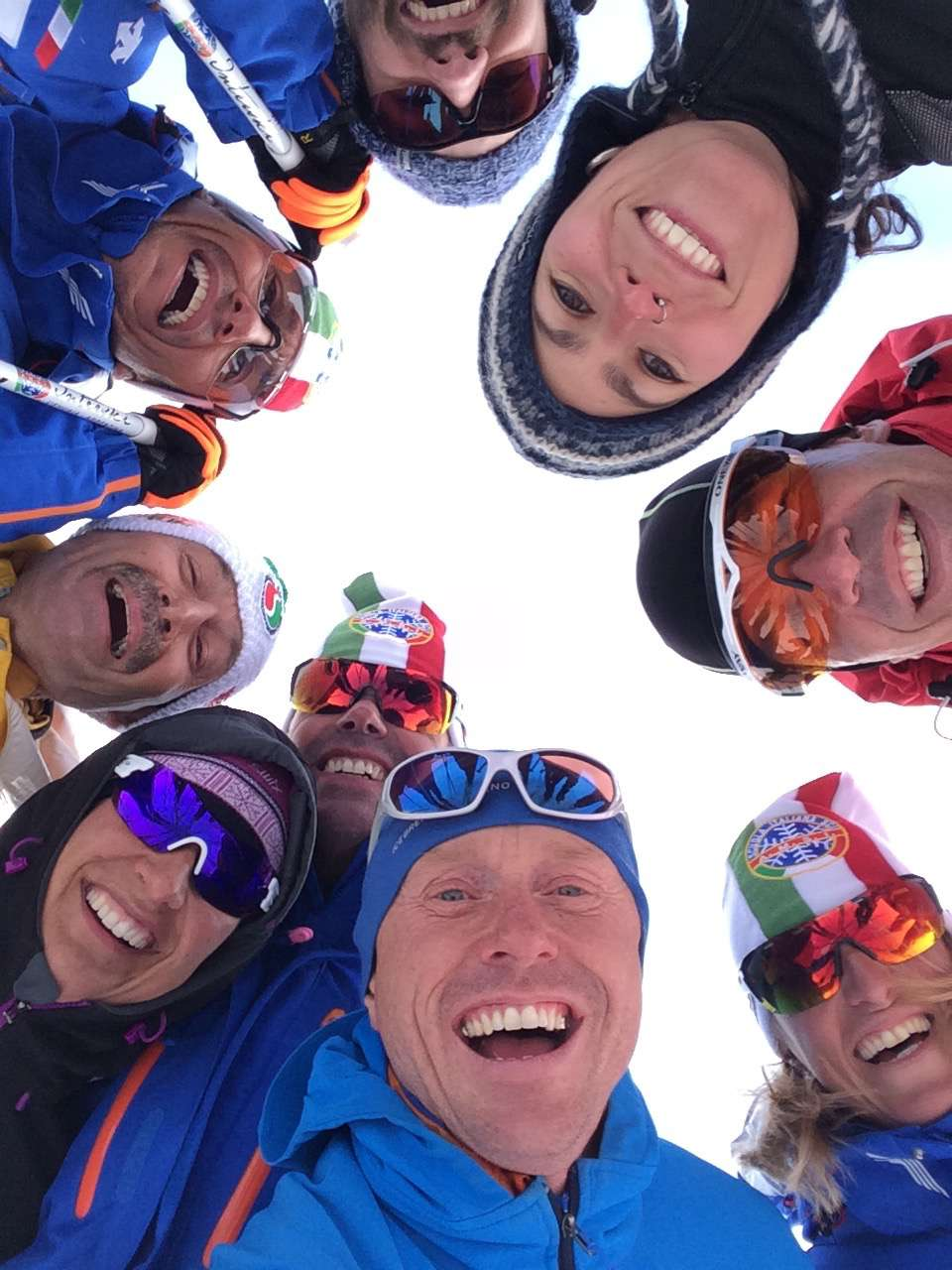 Everyone poses for an impromptu selfie after the us on snow presentation.