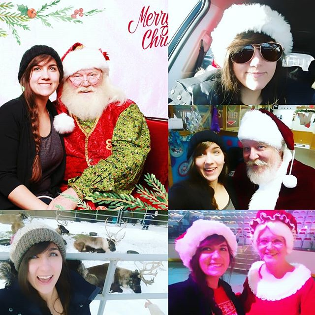 Managed to get 2 Santa pictures this year! And a few other fun ones including Mrs. Claus & real reindeer! This holiday season has been super fun! . . . #nevergrowingup #santaselfie #mrsclaus #reindeer #entertainerlife #facepainter #yyc #touques #santahat #fun #festive #Christmas #Xmas #Rudolph #aviators #cute #calgaryfarmersmarket #Santa #cowabungachristmas #jolly #tistheseason #holidays #hollydays
