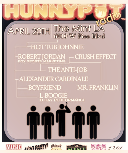 XANDER LIVE AT THE MINT LOS ANGELES. 9:30PM! CHECK OUT THE NEW EP PERFORMED LIVE!