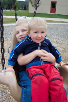 Taken at a park while visiting my friends, the Ericksons. Cool swing chair!