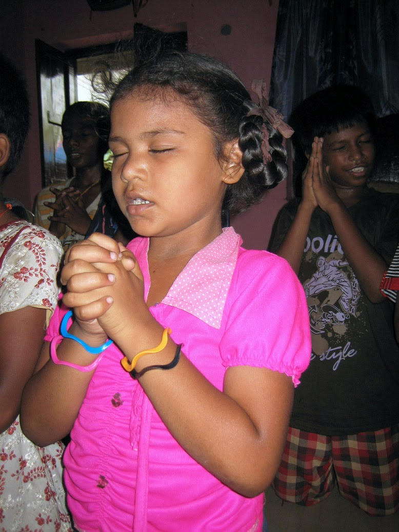 The children love to worship and praise God!