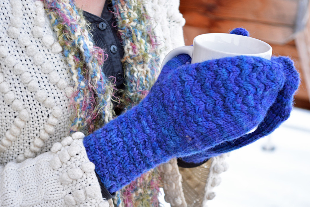 Mermaids and Dragons Mittens