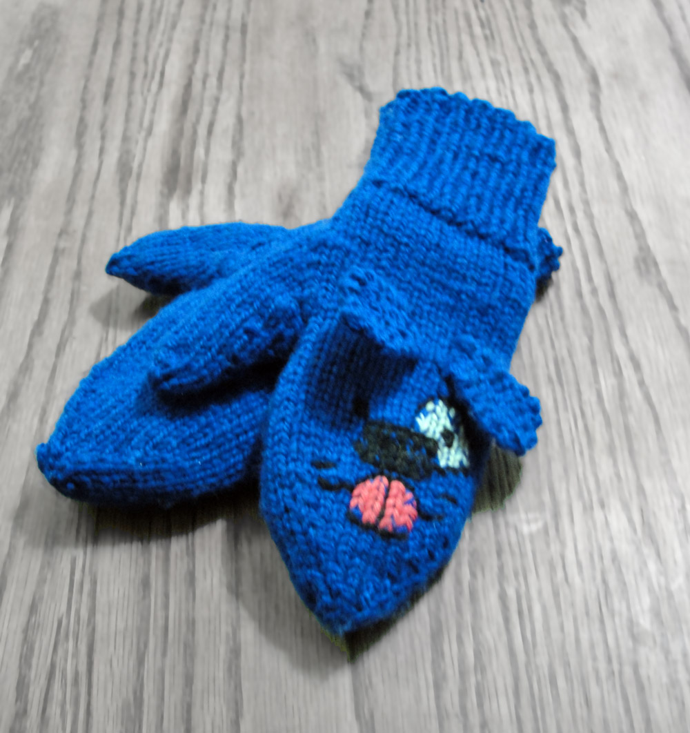 Cute, Cuddly Mittens - Blue Puppy