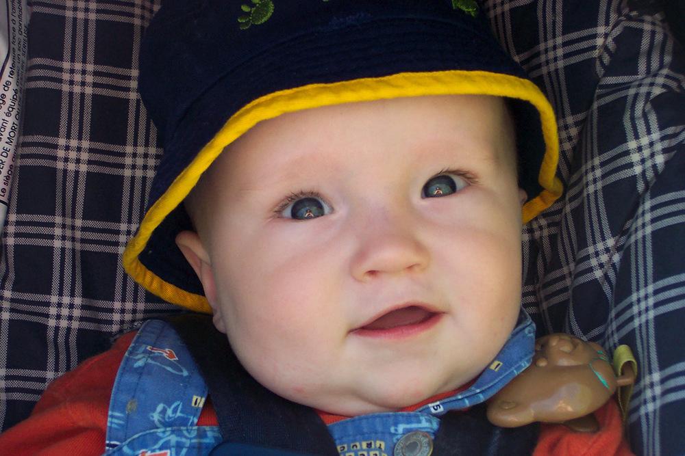 Jabin at 7 months. Ain't he cute?!