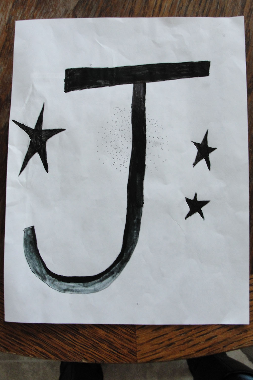 """Jabin's Club Hope Flag. (He realized afterwards it should have been an """"H"""", not a """"J"""". Oops."""