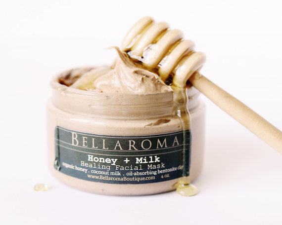 Ballaroma Honey and Coconut Milk healing facial mask from BellaromaBoutique on Etsy.