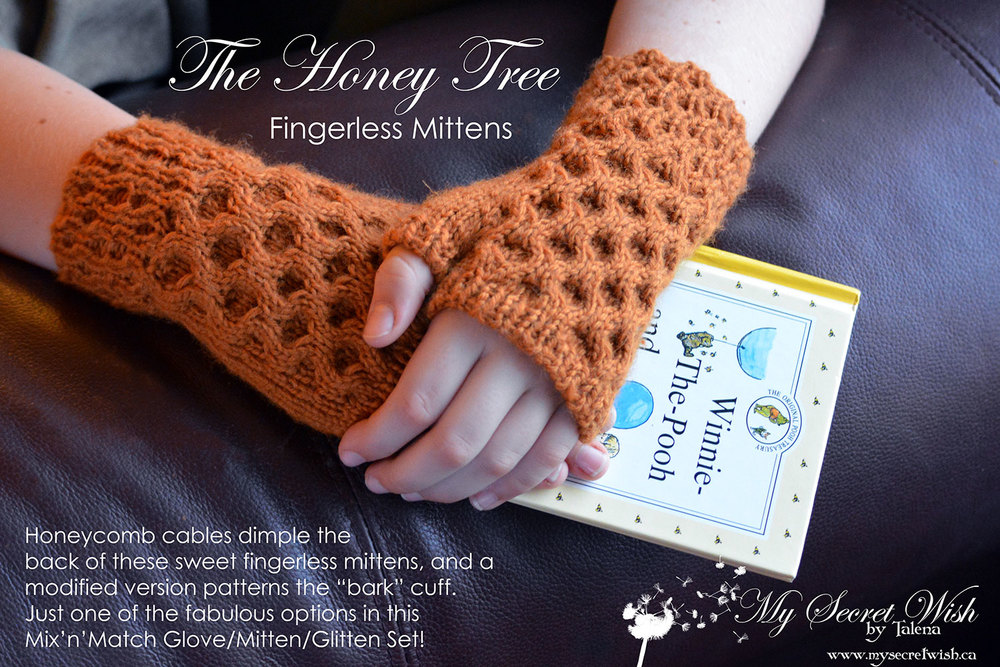 The Honey Tree knitting pattern from My Secret Wish store.