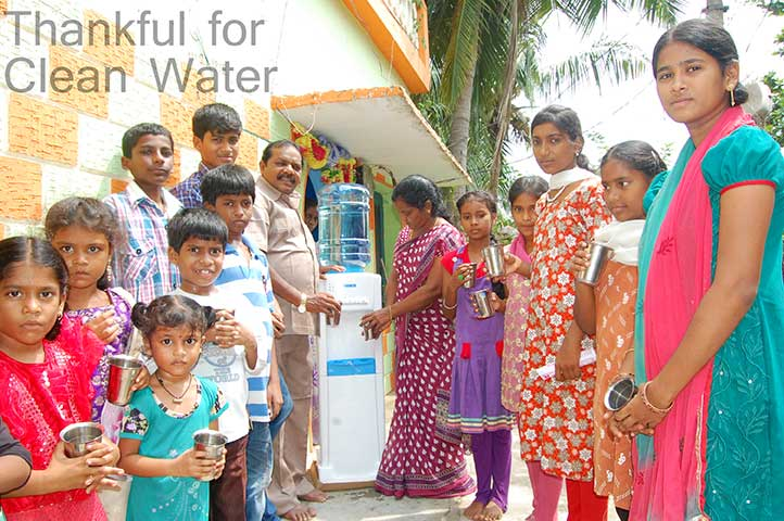 September 2015 - We purchased a new water cooler for the orphanage, so they could have pure drinking water.