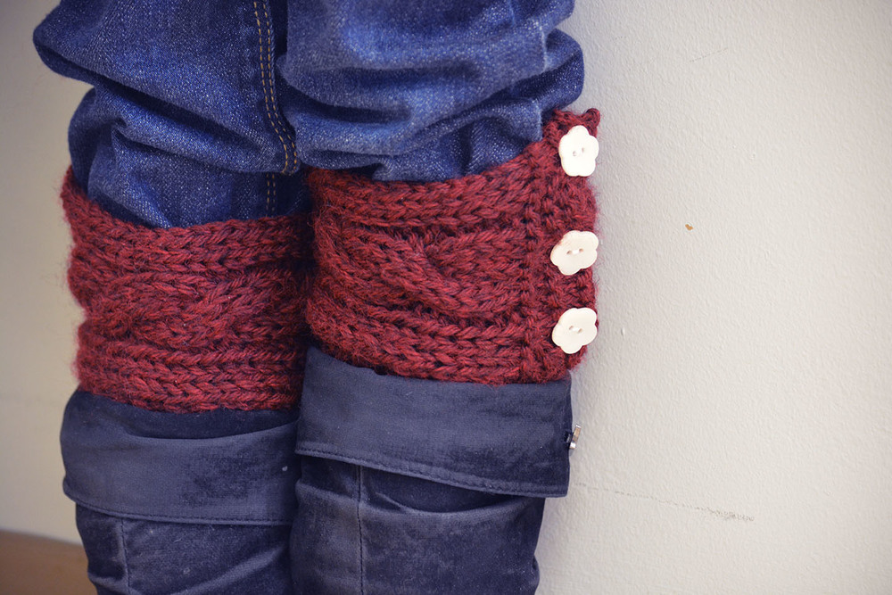 "Snow for Lorelai - ""Rory"" cuffs"