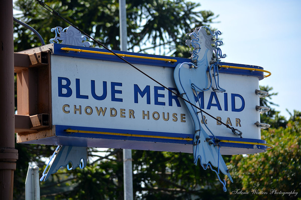 Blue Mermaid sign