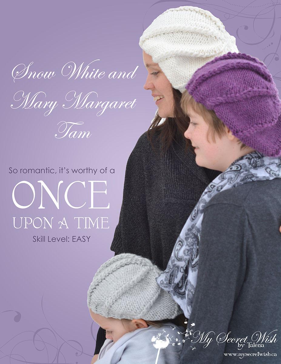 Snow White and Mary Margaret Tam Knitting Pattern from www.mysecretwish.ca.