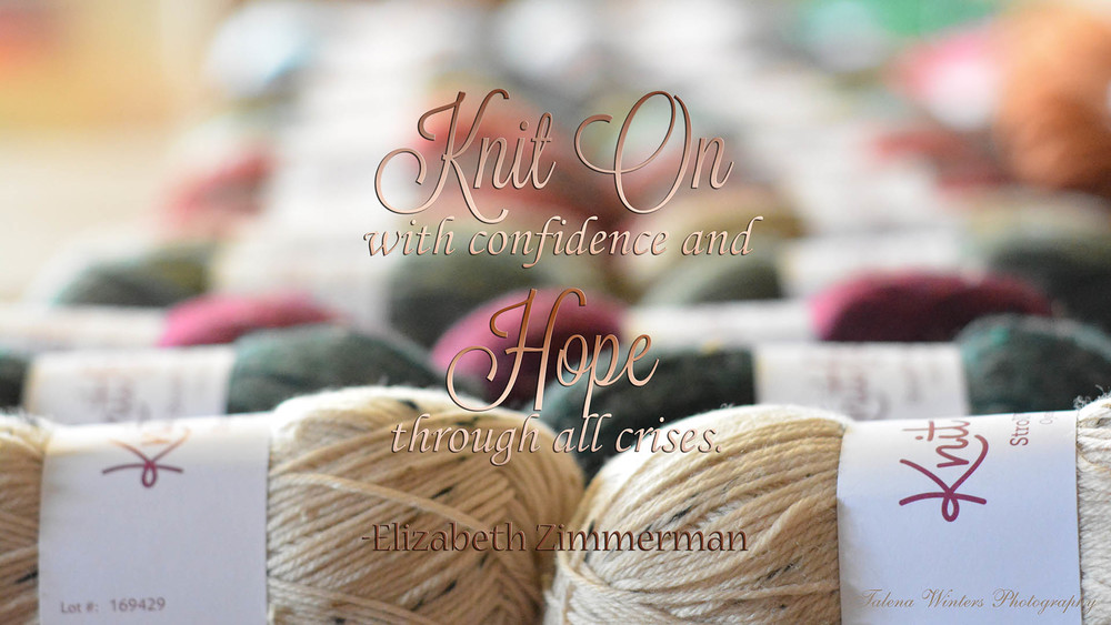 """Knit on with confidence and hope through all crises."" - Elizabeth Zimmerman. Free wallpaper from talenawinters.com, 1920x1080 px."