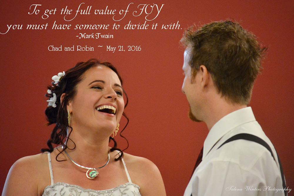 A joyful moment at the altar...