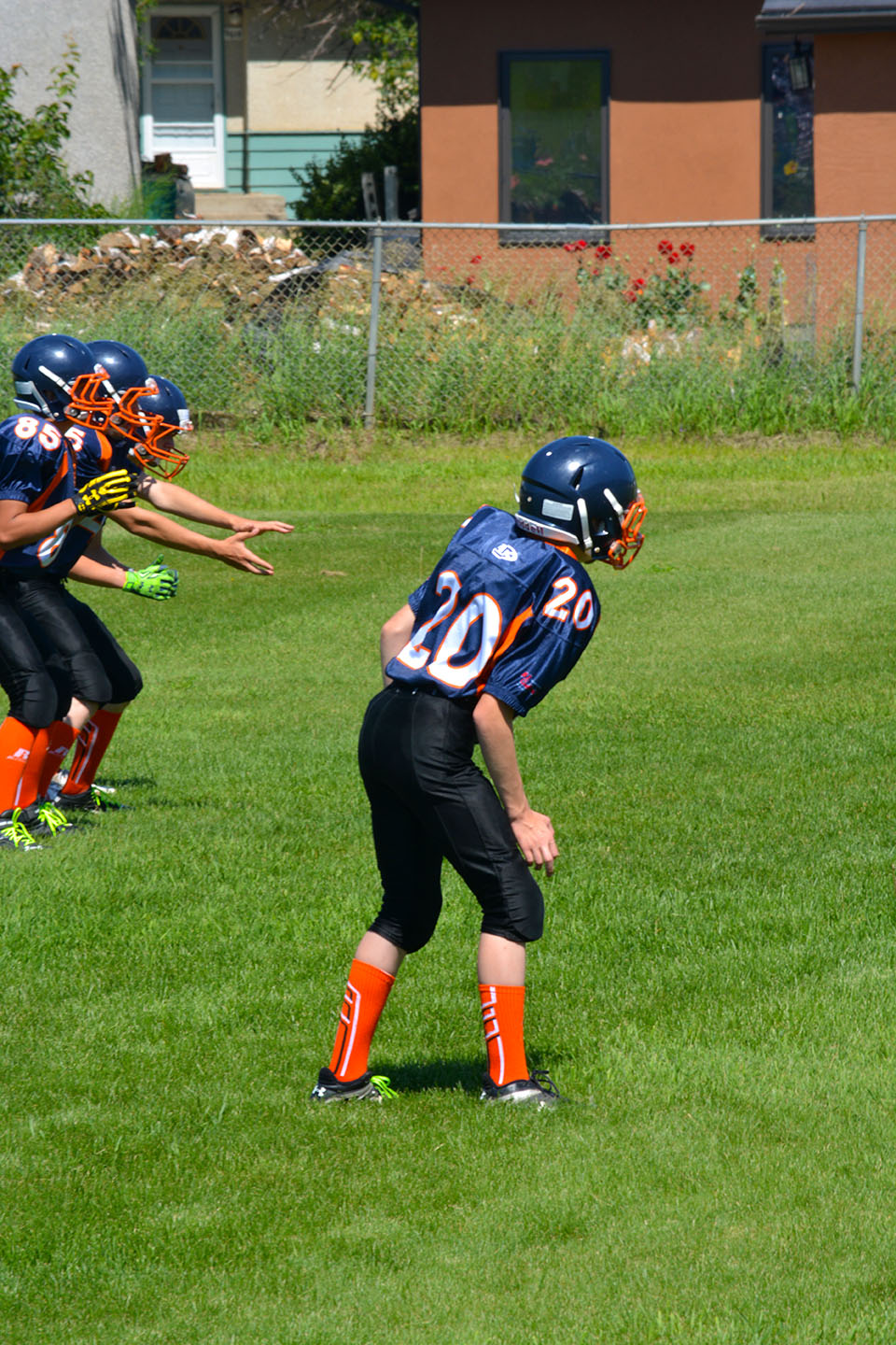 Jude in his first football game, ever.