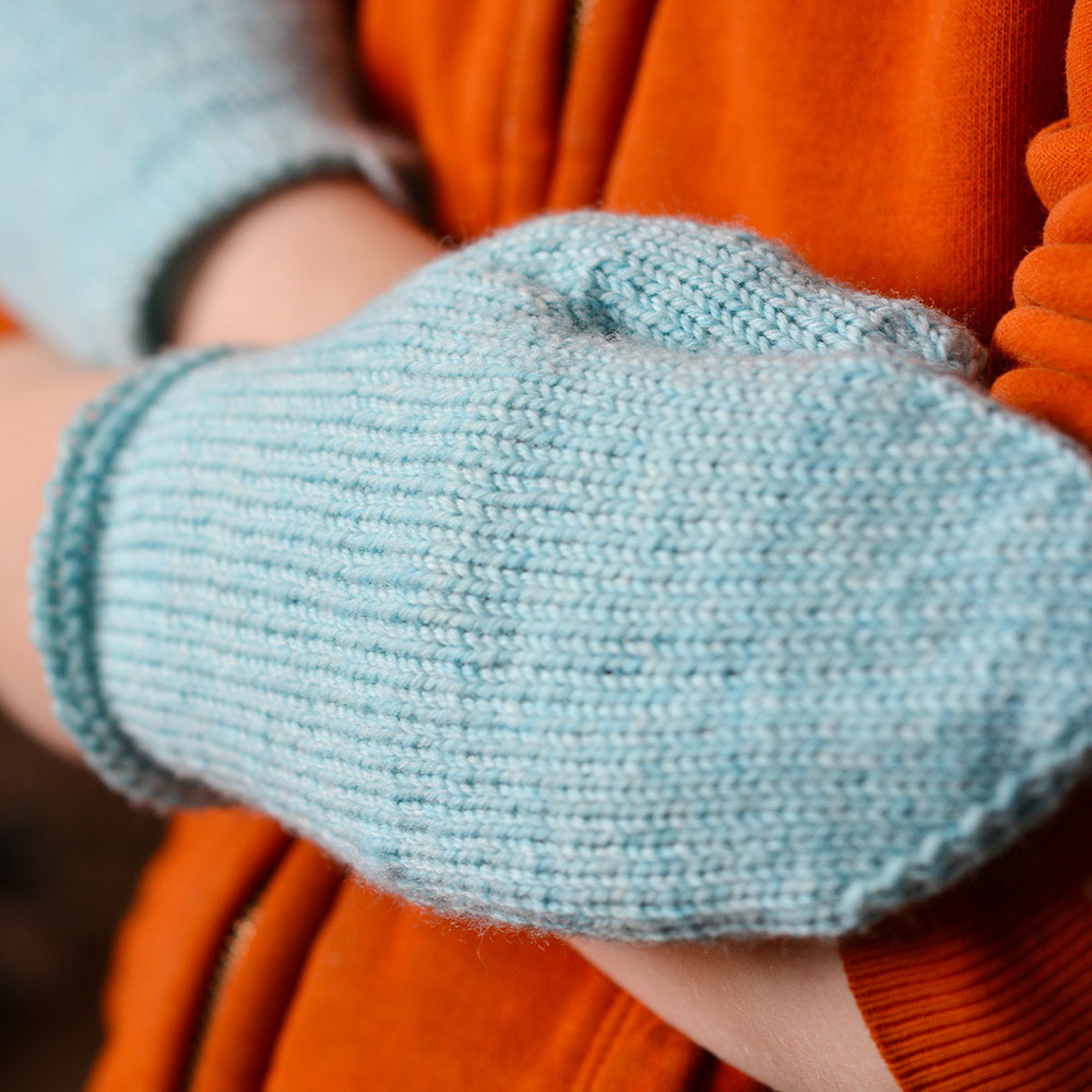 Just Plain Mittens Fingering-Weight Liners, Child size