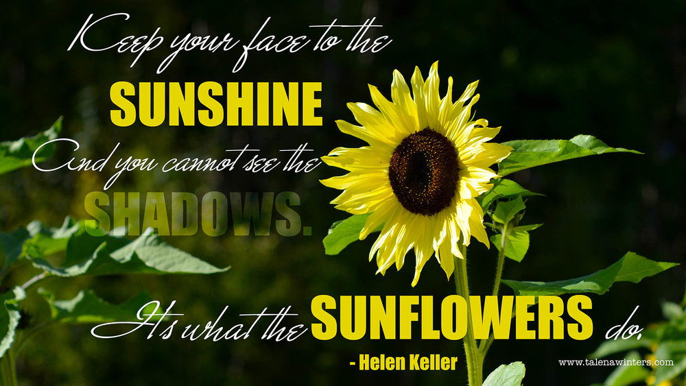 """Keep your face to the sunshine"" free desktop wallpaper from www.talenawinter.com. 1920x1080 resolution. More free inspirational wallpapers at  www.talenawinters.com/desktop-wallpapers ."
