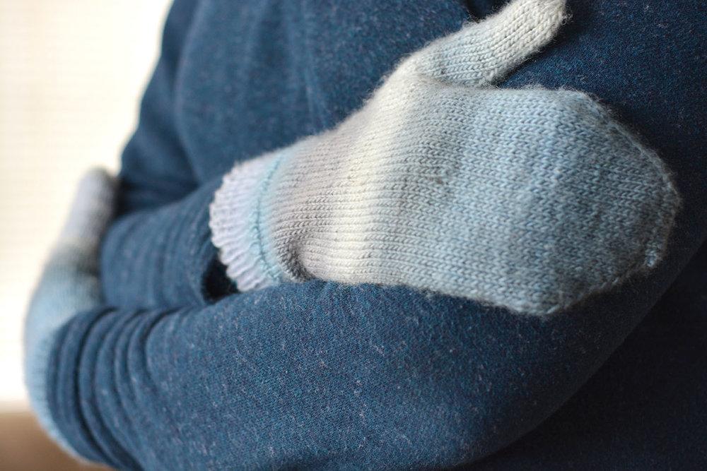 Just Plain Mittens in Fingering Weight, Junior/Ladies Size