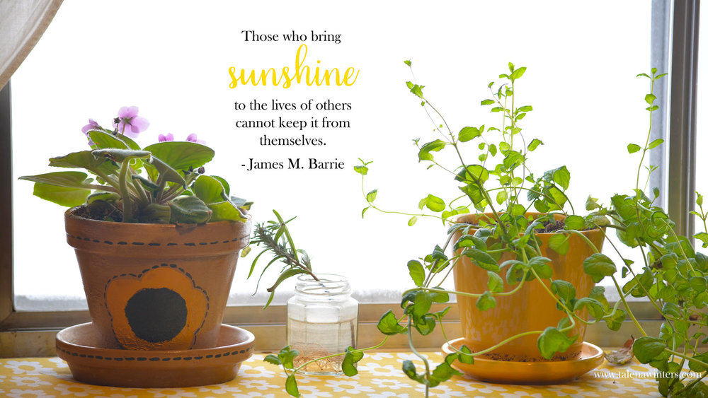 """Those who bring sunshine"" desktop wallpaper, 1920x1080 resolution. Get more free inspirational desktop wallpapers at www.talenawinters.com/desktop-wallpapers."